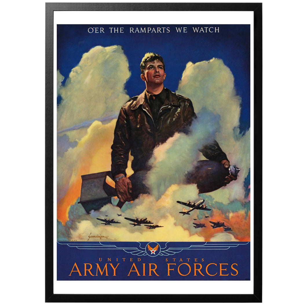 United States Army Air Forces Poster - World War Era