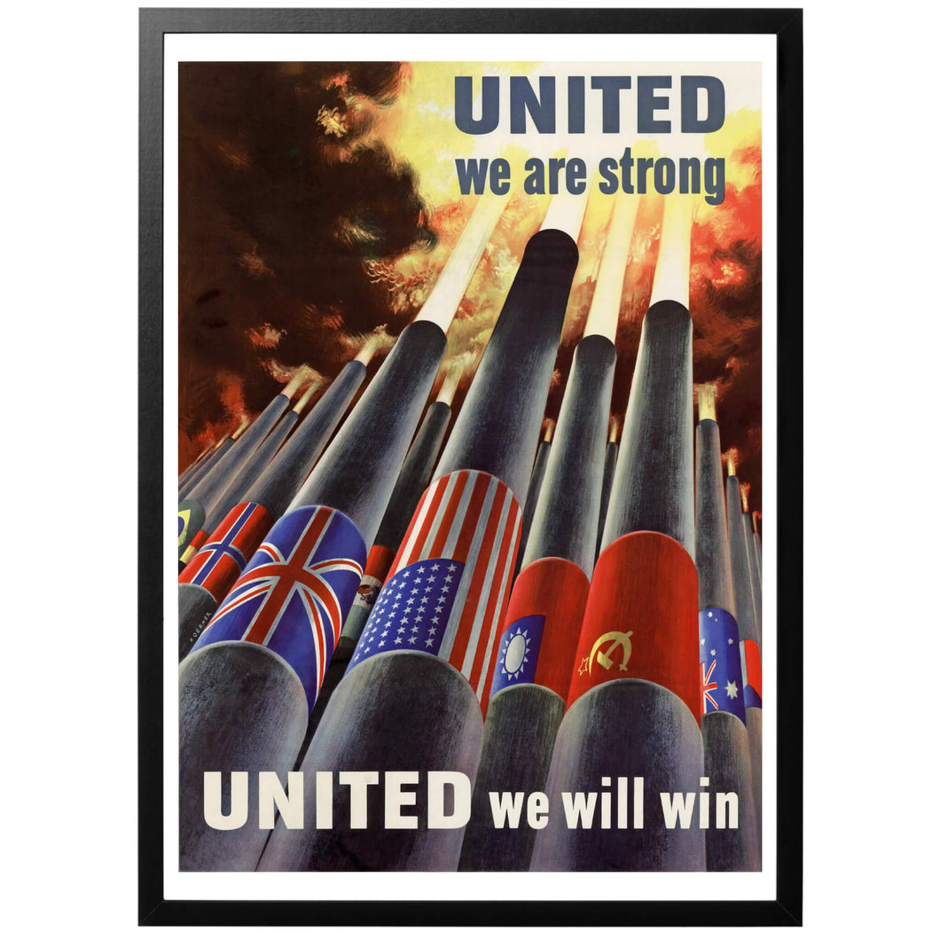 United we will win! Poster - World War Era