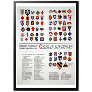 US Army Shoulder Insignia Poster