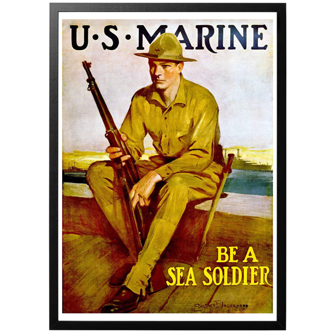 US Marine Poster - World War Era
