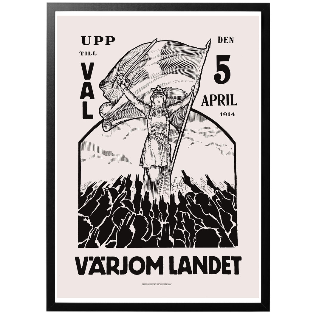 Värjom landet 1914 Poster - World War Era