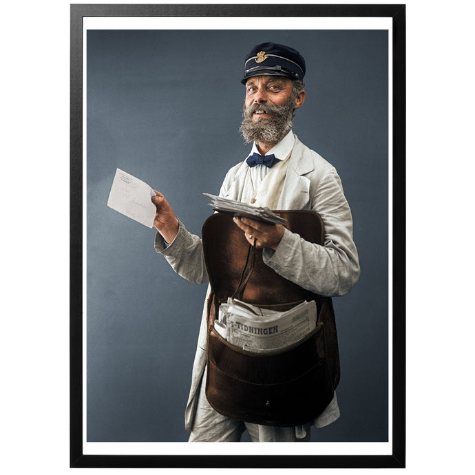Visby Postman Poster - World War Era