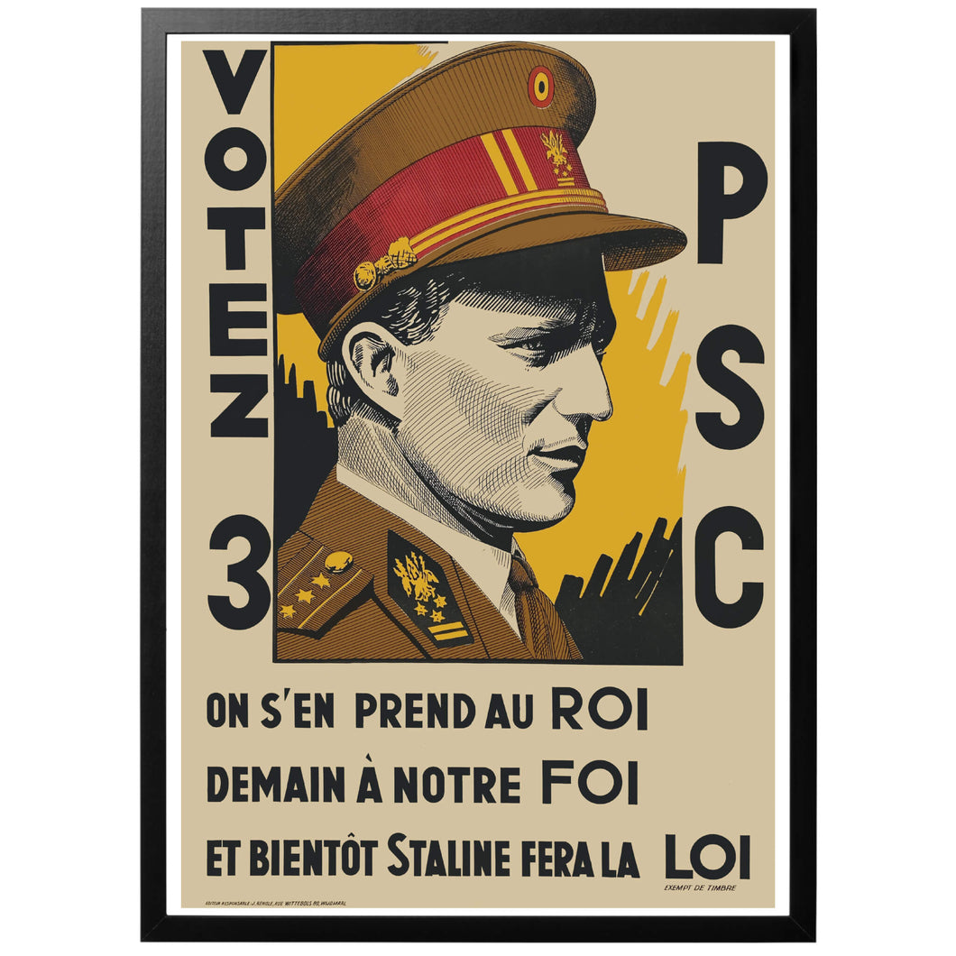 Votez 3 PSC Poster - World War Era