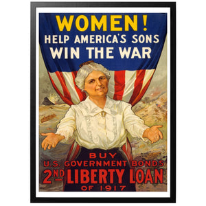 Women! Help America's Sons Win The War Poster - World War Era
