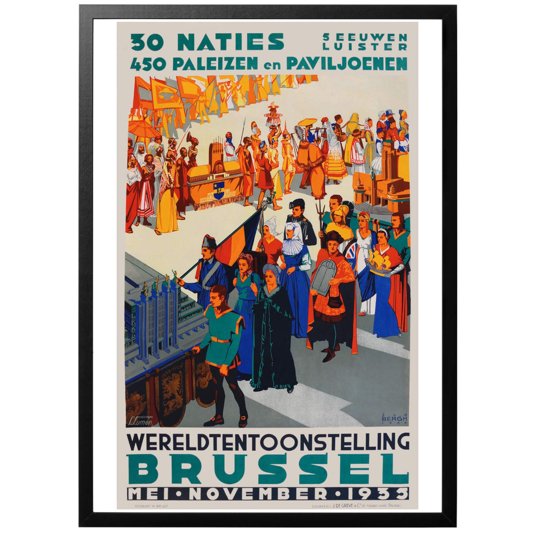 World Fair Brussels 1935 Poster - World War Era