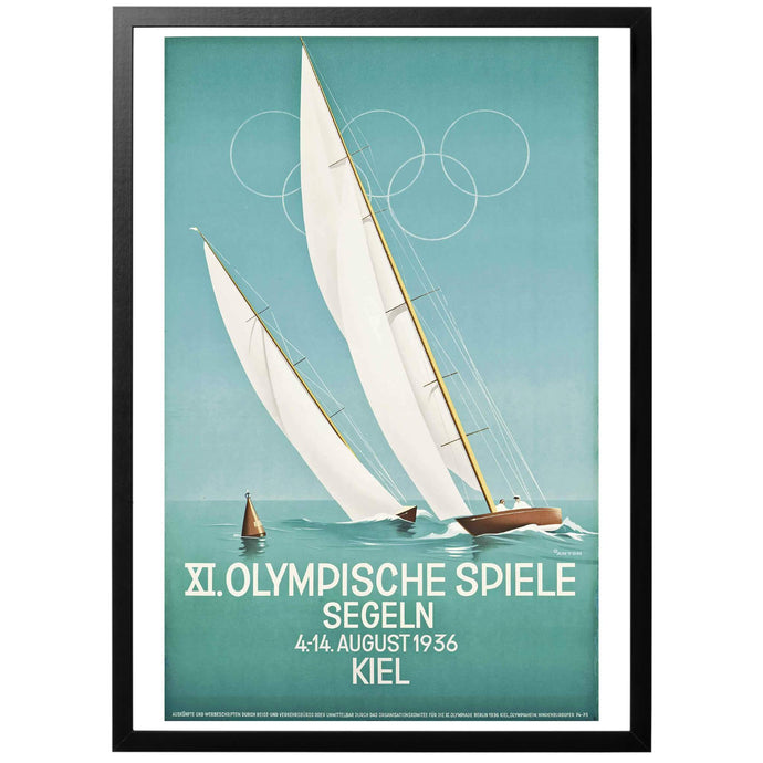XI Olympic Games - Sailing Poster - World War Era