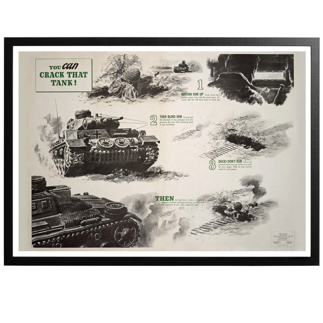You CAN crack that tank! Poster - World War Era