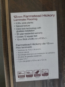 Farmstead Hickory Laminate Flooring