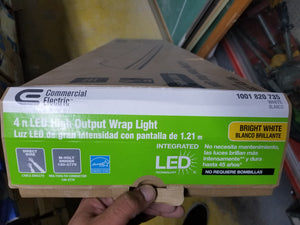 Commercial Electric Bright White 4ft LED High Output Wrap Light