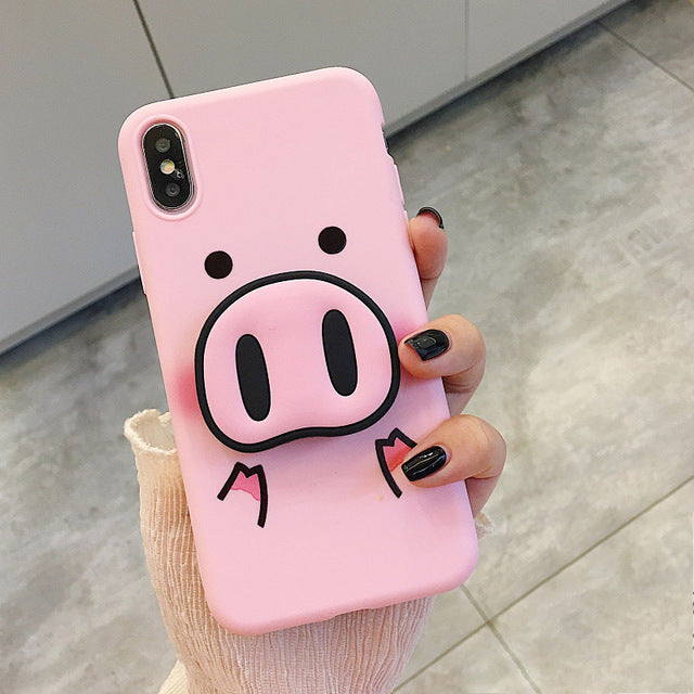 uk availability 5a3a1 a3fec Cute Pig iPhone Case w/ PopSocket
