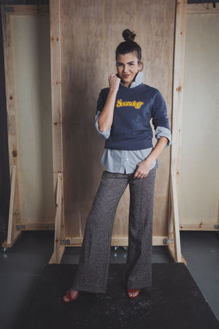 SOUNDOFF SWEATSHIRT; HEATHER NAVY