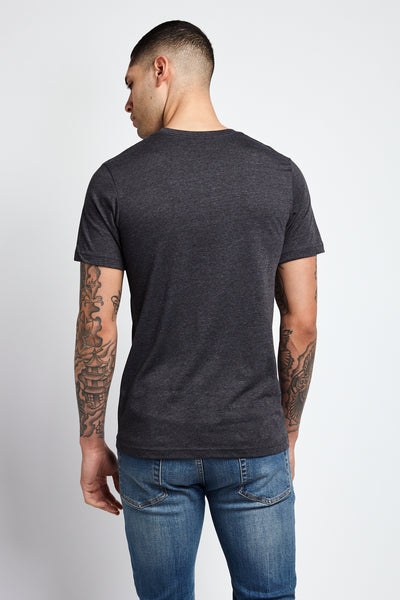 MAKE LOVE, NOT WAR; DARK GRAY HEATHER JERSEY T-SHIRT