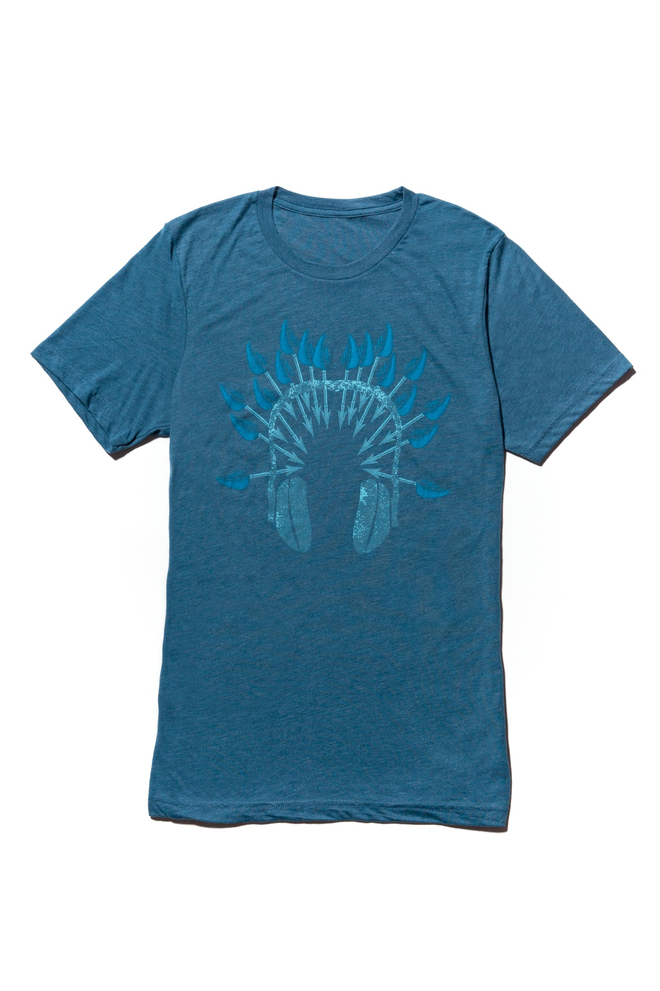 soundoff.mens.steel.blue.t.shirt.graphic.tee.warrior.headphones..cotton.polyester.rayon.blend.