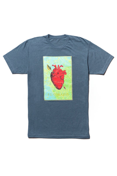 soundoff.mens.blue.t.shirt.graphic.tee.el.corazon.the.warriors.heart.cotton.polyester.rayon.blend.
