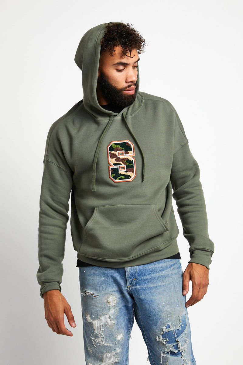 mens.womens.green.sweatshirt.hoodie.cotton.polyester.varsity