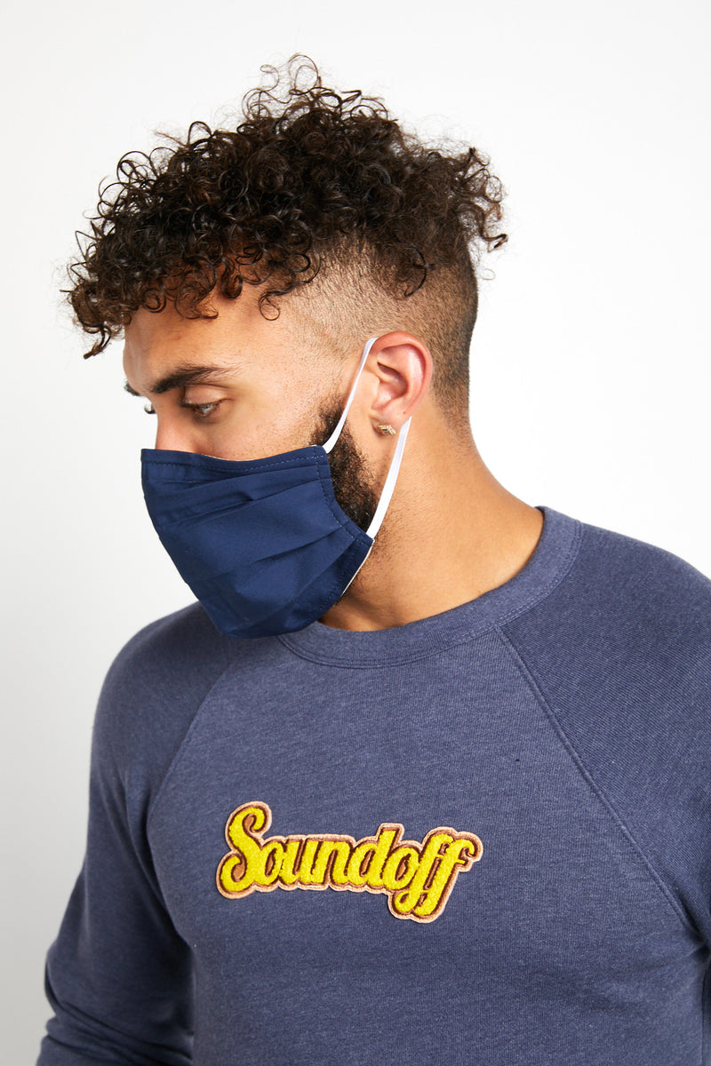 SOUNDOFF Handcrafted Face Mask - Navy