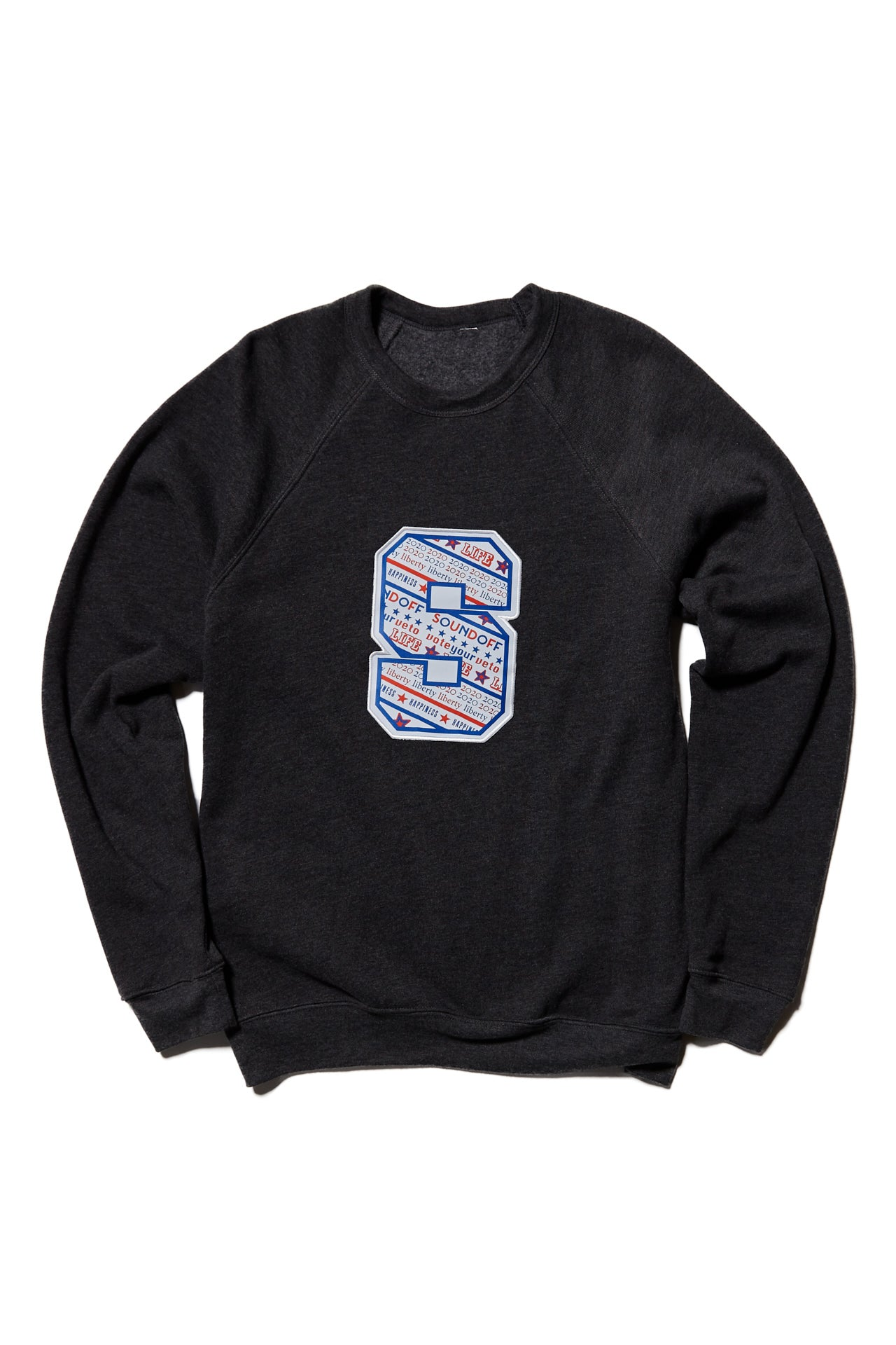 "SOUNDOFF ""S"" Sweatshirt; DARK GRAY HEATHER"