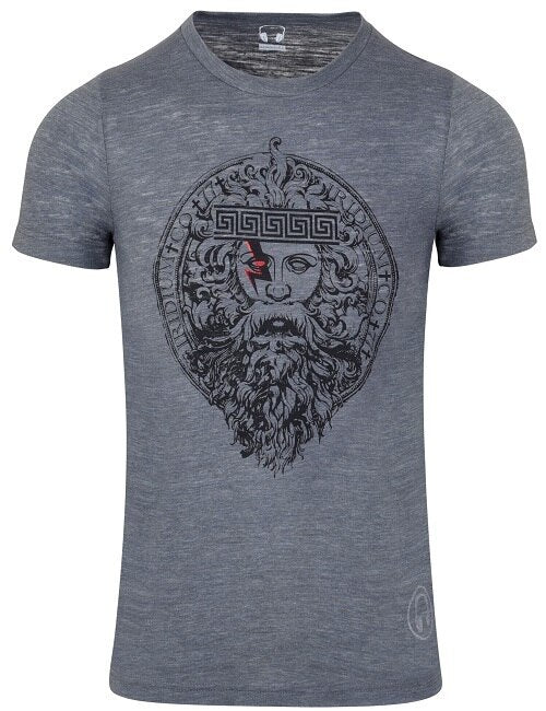 ZEUS Icon Tri-blend T-shirt, Asphalt Gray