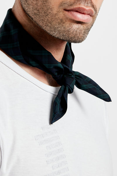 SOUNDOFF CUSTOM BANDANA; BLACK WATCH TARTAN PLAID
