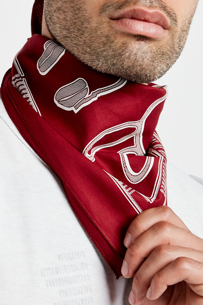 SOUNDOFF ILLUSIONIST BANDANA; BURGUNDY
