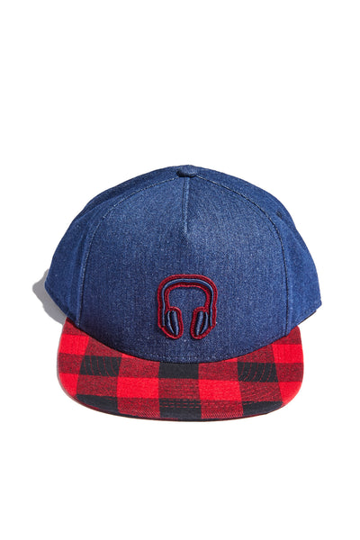 INDIGO DENIM + BUFFALO PLAID SNAPBACK (SPECIAL EDITION)