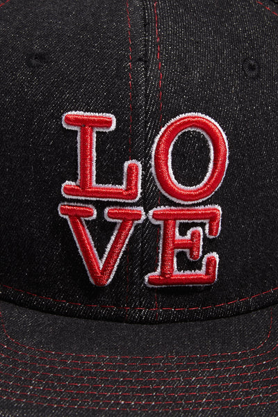 LOVE Snapback; Black Denim (Special Edition)