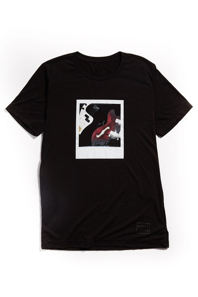 """The Bass & Guitar"" InstaShot #001 T-Shirt - black"