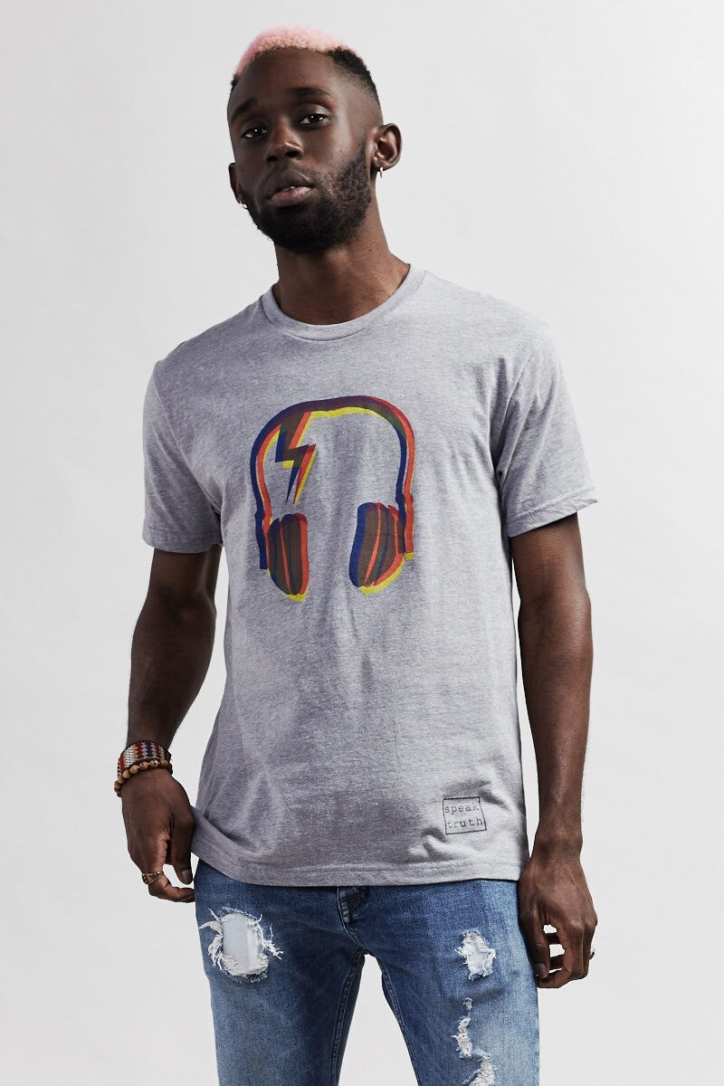 STARDUST DJ T-Shirt - dark heather gray