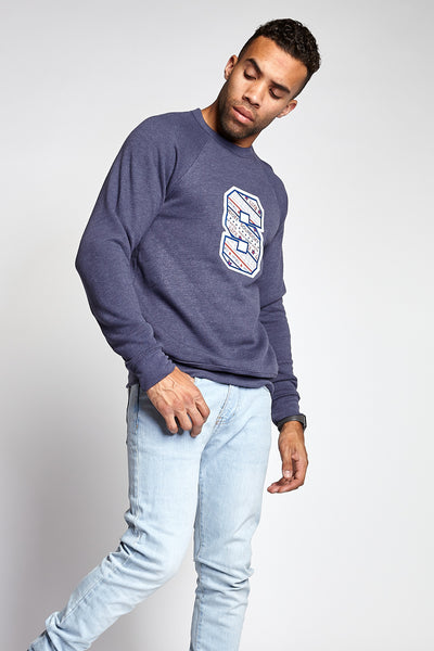 "SOUNDOFF ""S"" Sweatshirt; HEATHER NAVY"