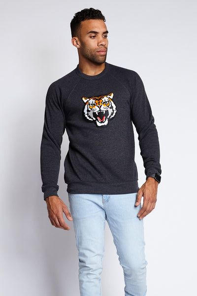 SAVAGE BEAST SWEATSHIRT; DARK GRAY HEATHER
