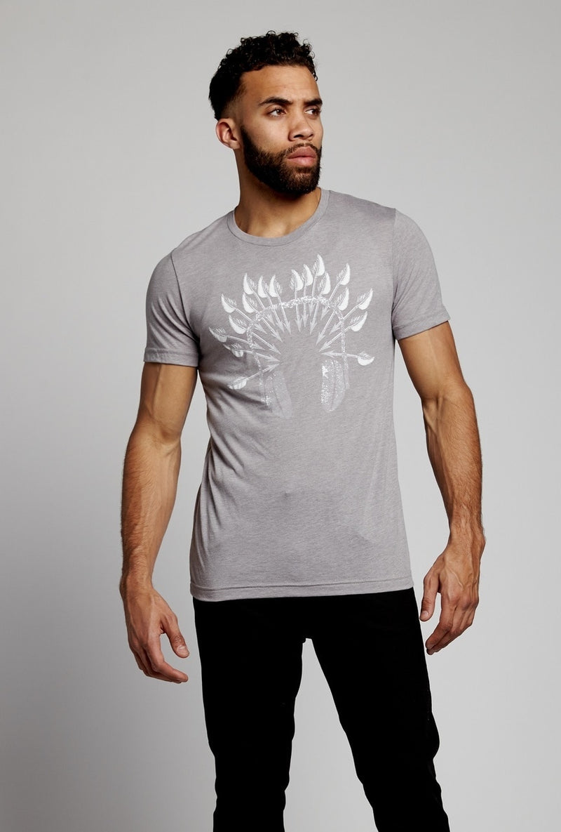 soundoff.mens.athletic.gray.t.shirt.graphic.tee.warrior.headphones..cotton.polyester.rayon.blend.