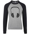 Headphone Logo Heather Gray / Black Sweatshirt