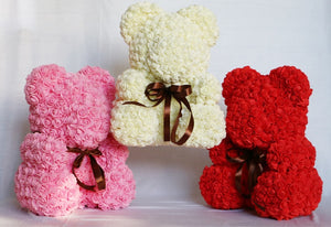 Rose Bear Valentines Gift in 24 Colors