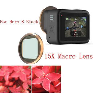 QKOO 15X Macro Lens Close Up Filter for Gopro Hero 8 Black (Works With Media Mod)