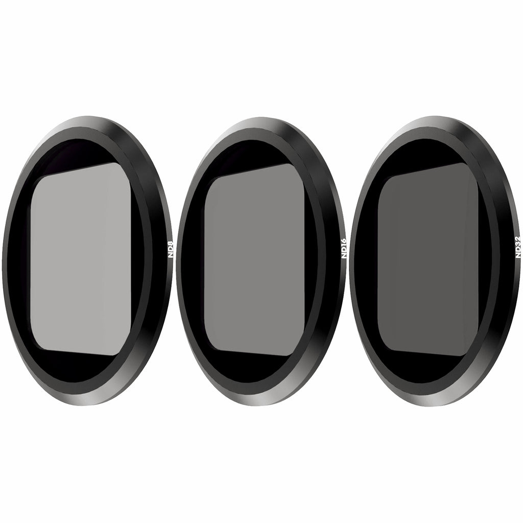 QKOO ND Filter Kit for GoPro Hero 8 Black (Works with Media Mod) - ND8, ND16, ND32 Lens Filter (3-Pack) - Neutral Density Lens Filters Set Camera Lens Accessories for Outdoor Sports