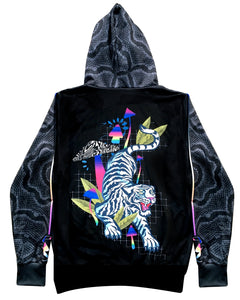 FALLING TIGER FLOURESCENT MUSHROOM HOODIE - Electrik Unicorn