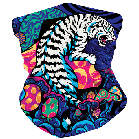 TIGER ON SHROOMZ facemask - Electrik Unicorn