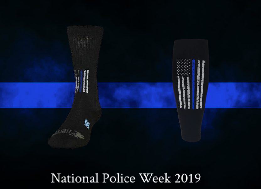 Thin Blue Line Crew Sock and Performance Sleeve