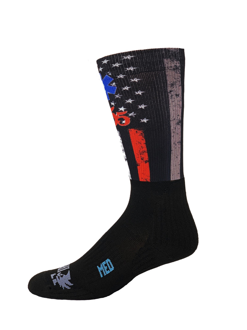 555 FITNESS: MULTI LINE SOCK
