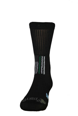 Thin Green Line Crew Sock
