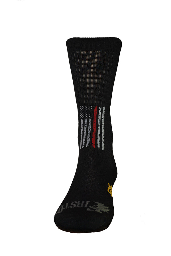 Thin Red Line Crew Sock