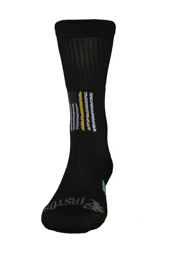 Thin Yellow Line Crew Sock