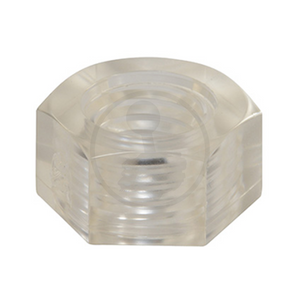 Hex Nut - Polycarbonate (Transparent)