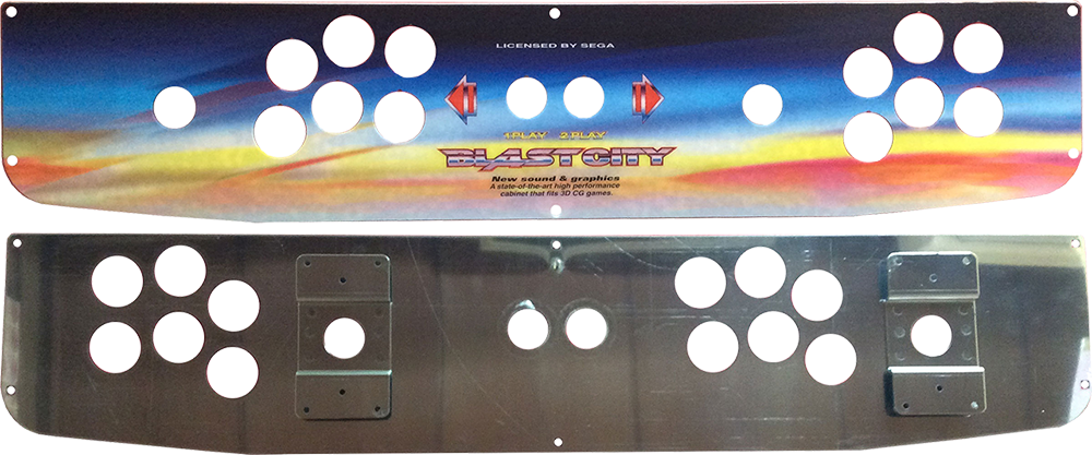 Arcade Control Panel - Sanwa Blast City 2L12B - Unpopulated