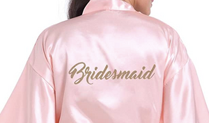 Pink Bridesmaid Robe