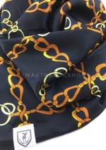 24K Black Gold Swagdana Scarf - Close-up View of Product. Dog Bandana. Dog Scarf.