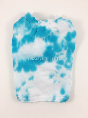 Swagadelic Sky Blue Tie Dye Tee - Product back view. The hand tie-dyed tee with Sky Blue