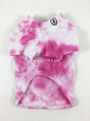 Swagadelic Pink Tie Dye Tee - Product front view. The hand tie-dyed tee with Pink