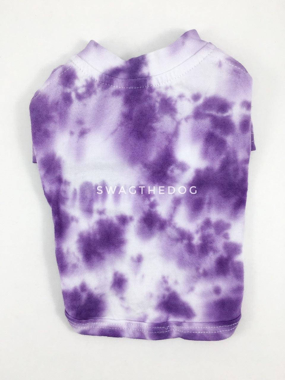 Swagadelic Purple Tie Dye Tee - Product back view. The hand tie-dyed tee with Purple
