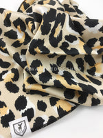Fierce Beige with Yellow Swagdana Scarf - Close-up View Of Product. Dog Bandana. Dog Scarf